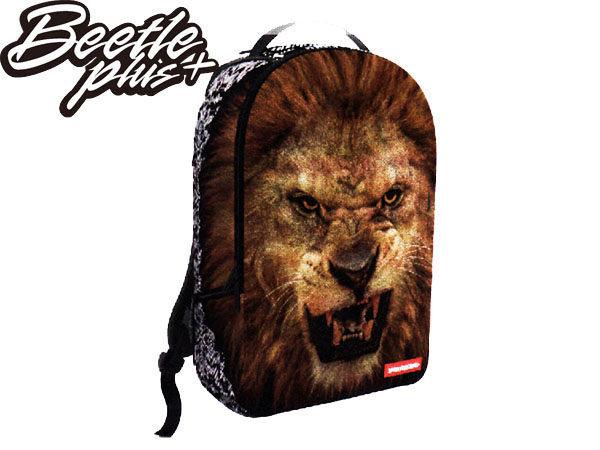 BEETLE PLUS 全新 SPRAYGROUND 美國潮牌 超強功能性 後背包 LION 獅子 臉 FACE 動物 花紋 SP-36