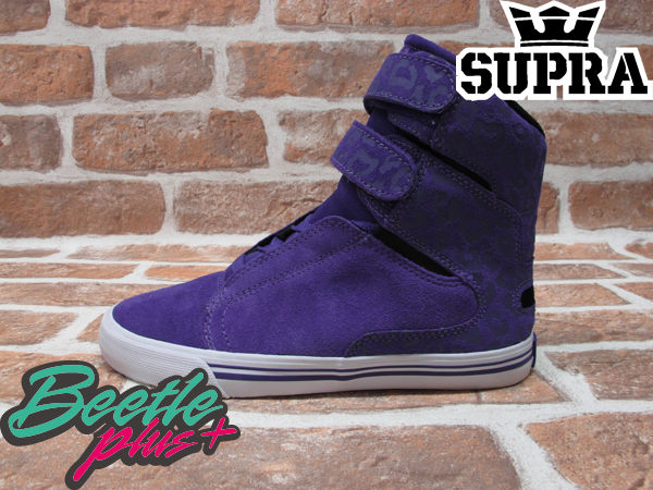 BEETLE PLUS 西門町 全新 SUPRA SOCIETY WOMENS 女款 紫色 高筒 魔鬼氈 跳舞鞋 PUR SW34002