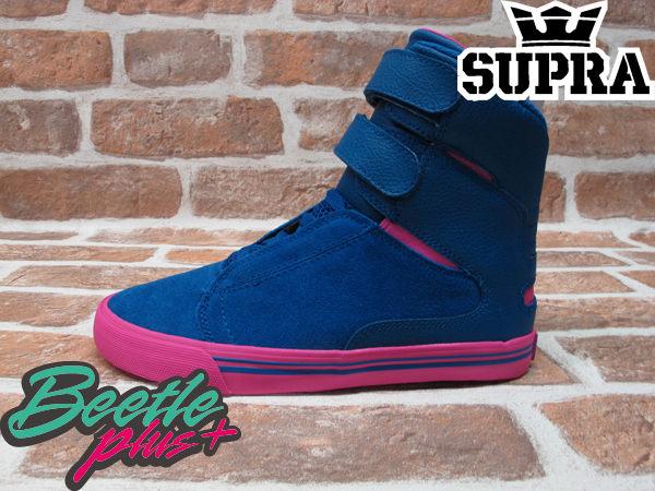 BEETLE PLUS 西門町實體店面 全新 SUPRA SOCIETY WOMENS 女款 藍 粉紅 高筒 魔鬼氈 跳舞鞋 SW34003