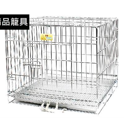 狗籠 不鏽鋼寵物鐵籠子-可折疊不生鏽堅固耐用 寵物用品(1.5/2呎 )72ao31【獨家進口】【米蘭精品】