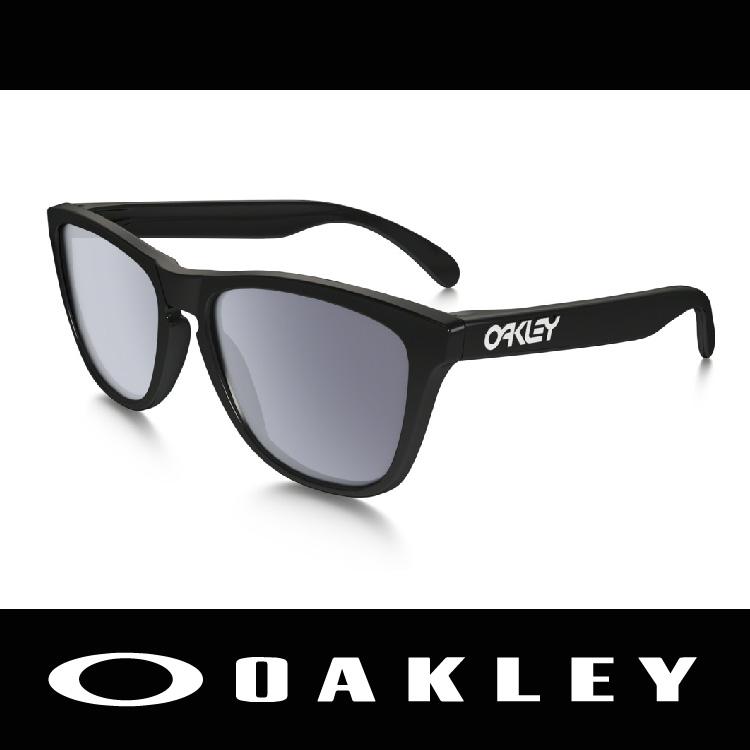 萬特戶外運動-美國 OAKLEY 太陽眼鏡 FROGSKIN系列 黑色亮面鏡框 時尚有型 林依晨愛用 9245-01