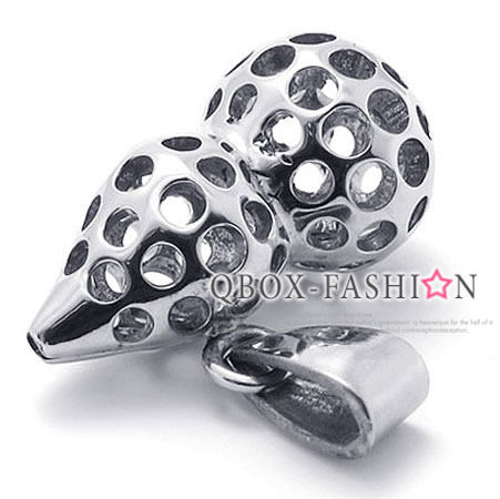 《 QBOX 》FASHION 飾品【W10021384】精緻個性開運葫蘆316L鈦鋼墬子項鍊