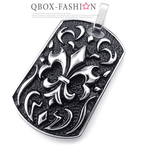 《 QBOX 》FASHION 飾品【W10024099】精緻個性復古克羅心十字架方盾牌鑄造316L鈦鋼墬子項鍊
