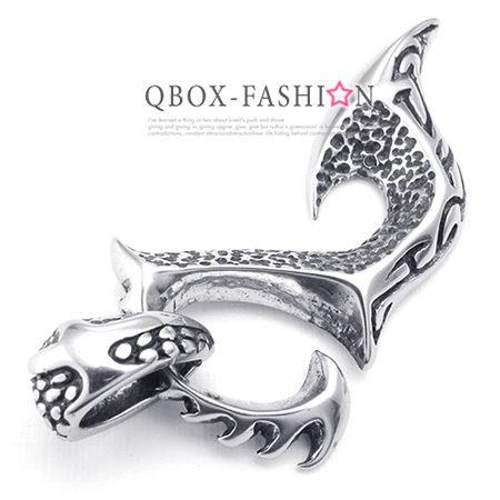 《 QBOX 》FASHION 飾品【W10024332】 精緻個性火焰鳳凰鑄造316L鈦鋼墬子項鍊