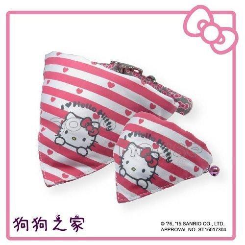☆狗狗之家☆日本三麗鷗授權 Hello Kitty 凱蒂貓 項圈 領巾 L尺寸