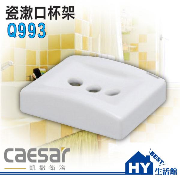 凱撒衛浴 Q993 漱口杯架 牙刷杯架 台灣製造《HY生活館》水電材料專賣店