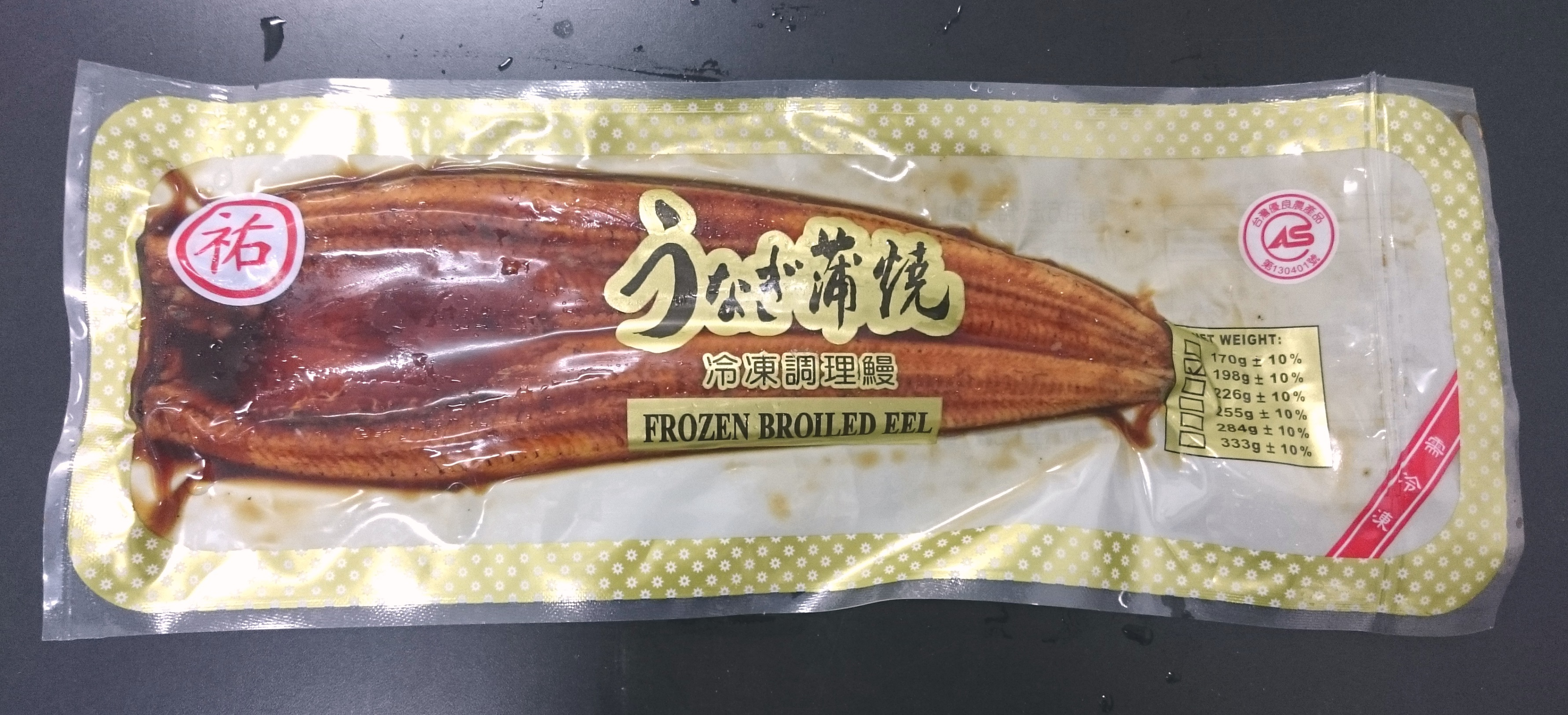 蒲燒鰻 198g/片