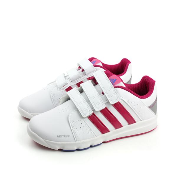 adidas BTS Class 4 CF K 休閒鞋 白桃 童 no201