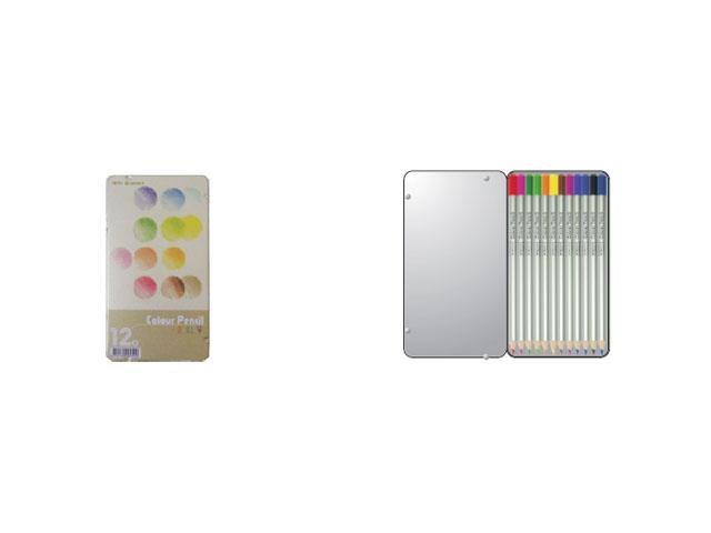 【文具通】SINGDON 新東 UNIPOINT 優點 U-12C 12色 鐵盒 色鉛筆 油性 A1340309