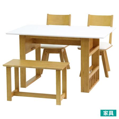 ◎天然木可伸縮餐桌椅組 淺褐色 PIA2 LBR TW