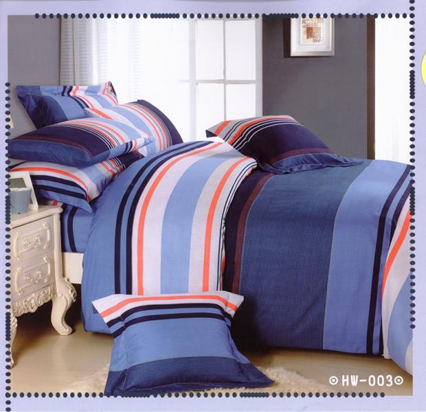✧臺灣製✧舒柔棉磨毛超細纖維床包組《HW-003》5X6.2尺雙人床包組+兩用被 四件組◤彩虹森林◥