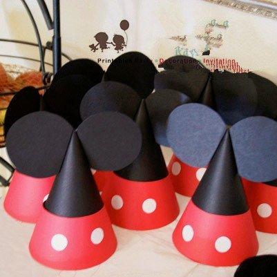 =優生活=迪士尼米奇米妮唐老鴨高飛布魯托黛西派對帽 三角帽 DIY手工帽 野餐派對帽 生日派對 生日帽