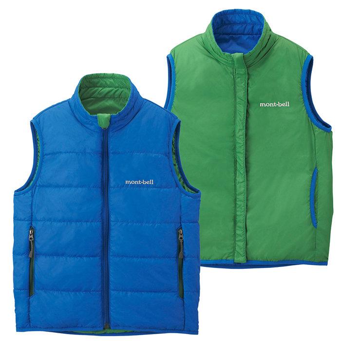 【鄉野情戶外專業】 mont-bell |日本| THERMAWRAP 雙面穿化纖外套/背心外套/1101455 【兒童款100-120】