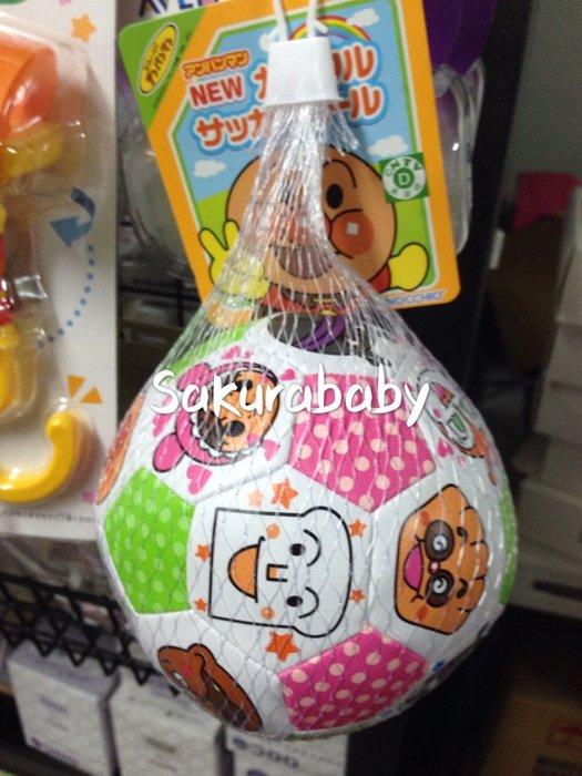 麵包超人 軟式小足球 嬰兒玩具 軟球 豐富圖案 色彩 安全玩具 _櫻花寶寶
