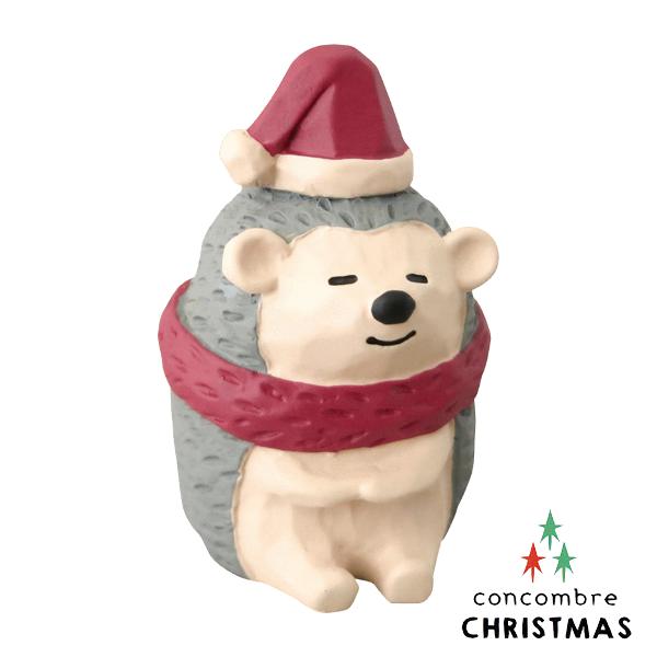 【森林系聖誕節限定版】日本擺飾小玩偶 / 公仔 -  Concombre 貪睡的刺蝟 ( ZXS-48146 )