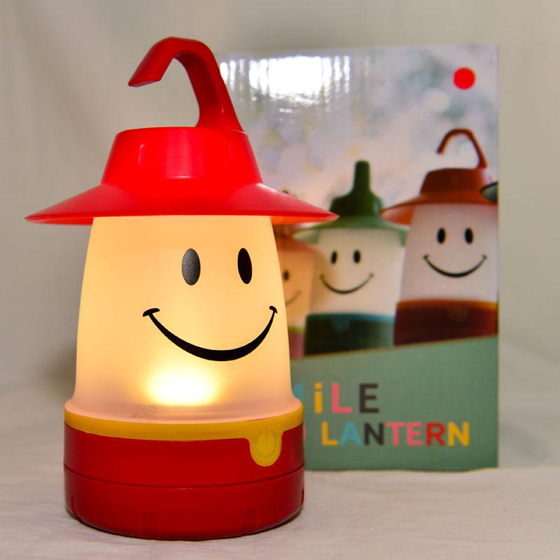紅色 LED 微笑小夜燈 露營吊燈 緊急照明燈 日本帶回 同歩流行