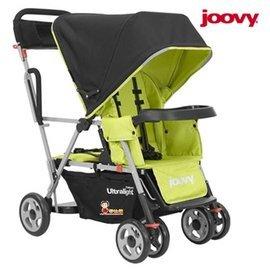【淘氣寶寶】  2015年新款 美國Joovy Caboose Ultralight 雙人手推車/兄弟車【綠色】【公司貨保固】