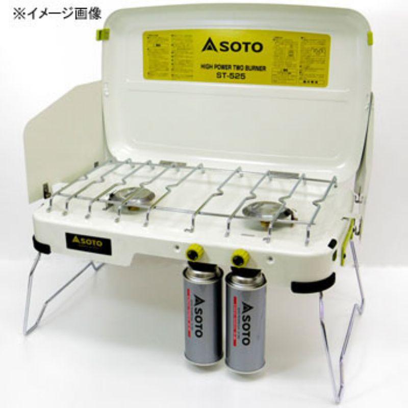 【露營趣】中和 送手電筒鉤環 日本 SOTO ST-525 尊爵特仕版白雙爐 卡式瓦斯爐 雙口爐 卡式爐 送ST-553導熱棒