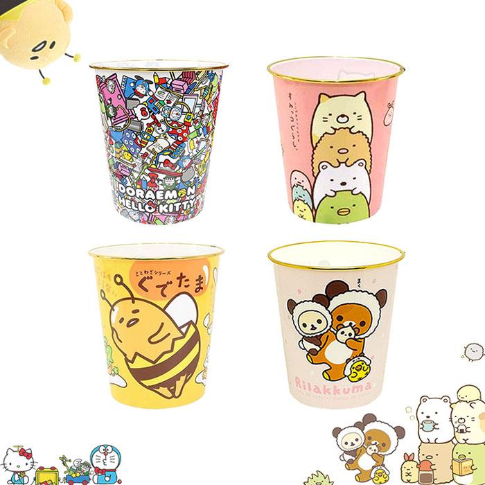 大田倉 日本進口正版 凱蒂貓 哆啦A夢 角落公仔 蛋黃哥 懶懶熊 垃圾桶 甜食桶 收納桶 置物桶 玩具桶
