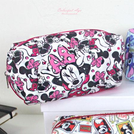 鉛筆盒 正版迪士尼Disney系列帆布化妝包/筆袋 滿版圖鴉人氣卡通圖案 柒彩年代【NS10】收納袋
