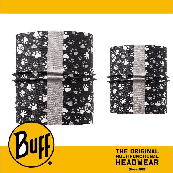 BUFF 西班牙魔術頭巾 寵物頭巾系列 BF111250 寵物反光頭巾M/L 毛孩足印