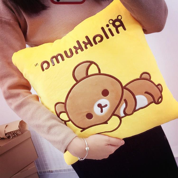 PGS7 (現貨+預購) 日本卡通系列商品 - 拉拉熊 方型 抱枕 枕頭 懶懶熊 午安枕 鬆弛熊