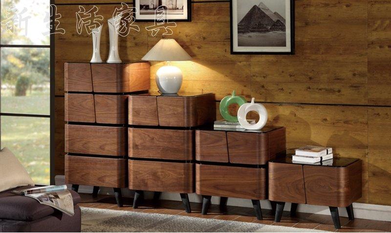 【新生活家具】 美式 復古 四斗櫃 收納櫃 衣櫃 床頭櫃 置物櫃 收納 木質 抽屜《凱薩》 非 H&D ikea 宜家