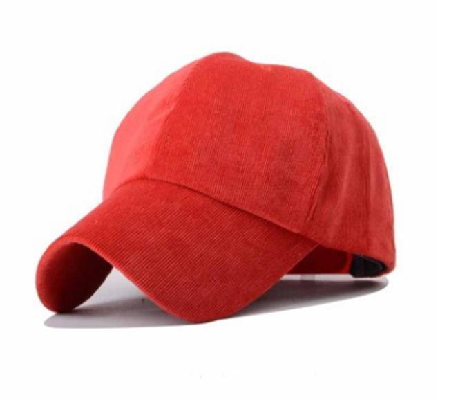 50%OFF【E013101H】韓國學院風燈芯絨彎簷棒球帽復古簡約鴨舌帽子男女情侶潮春夏老帽