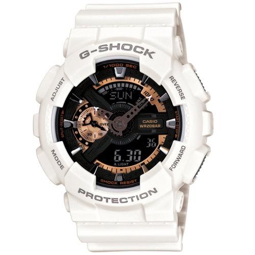 CASIO/G-SHOCK/金屬立體層面時尚腕錶金屬立體層面時尚腕錶/GA-110RG-7ADR