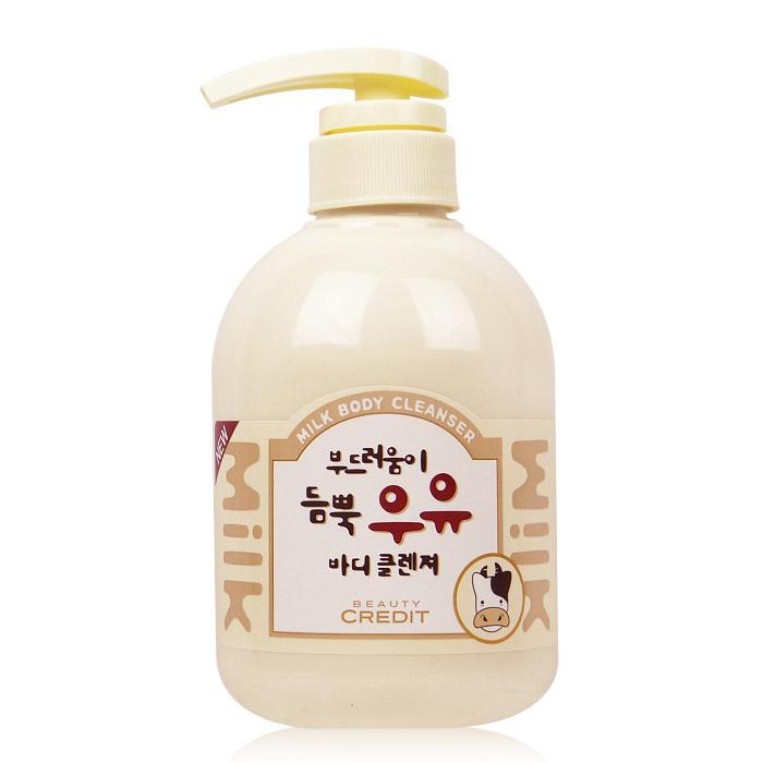 韓國 Beauty Credit 牛奶身體沐浴乳/身體乳  500ML  ☆真愛香水★ 另有Q10