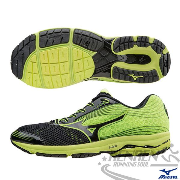 MIZUNO 美津濃 WAVE SAYONARA 3 男慢跑鞋(黑*綠) 2015新款 超輕量 路跑訓練
