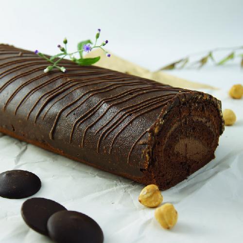 黑迦納堅果巧克力捲