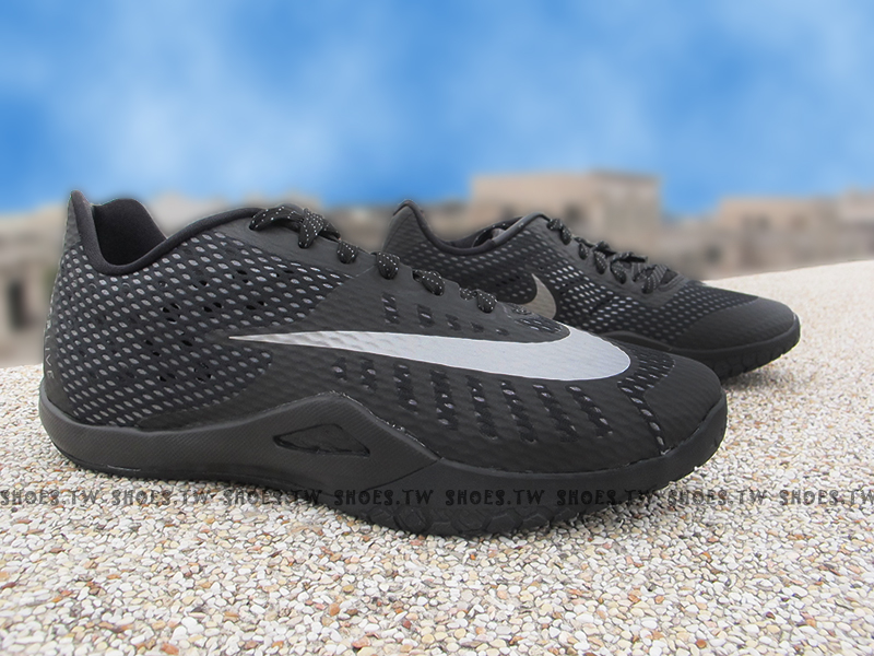Shoestw【820284-001】NIKE HYPERLIVE EP 籃球鞋 黑色 大銀勾 哈登 XDR耐磨