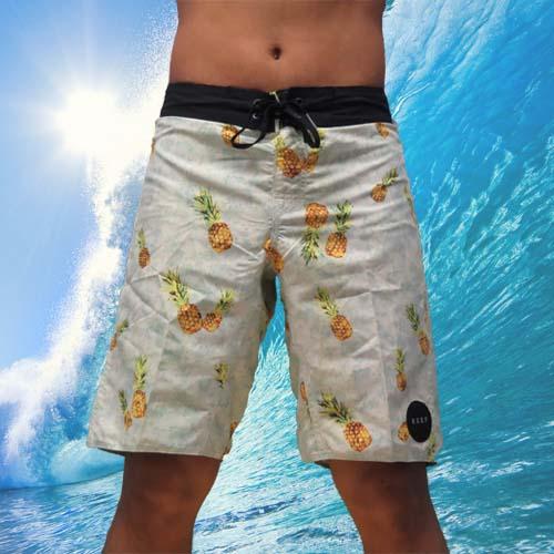 【5折優惠↘】REEF 夏日最夯的REEF 夏威夷鳳梨海灘衝浪褲.PINEAPPLE黃