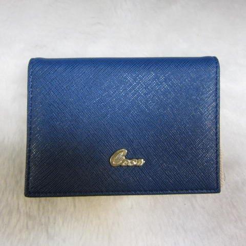 ~雪黛屋~Cosa 名片夾進口專櫃進口防水防刮皮革輕便易攜帶可20張名片多張證件信用卡CU136-103 淺藍