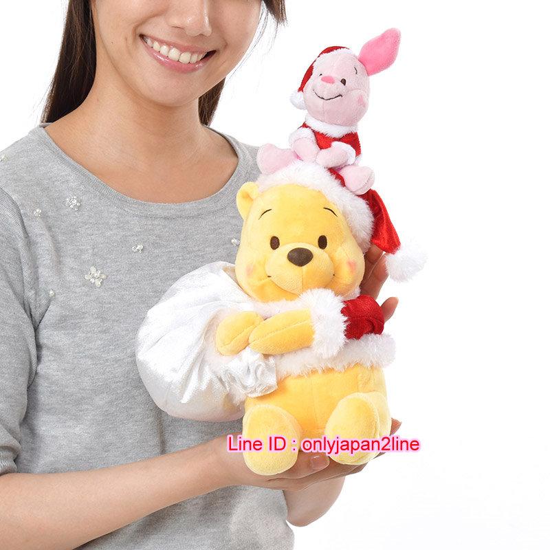 【真愛日本】16111500064專賣店聖誕對娃組-維尼小豬   迪士尼 花栗鼠 奇奇蒂蒂 松鼠  娃娃 擺飾