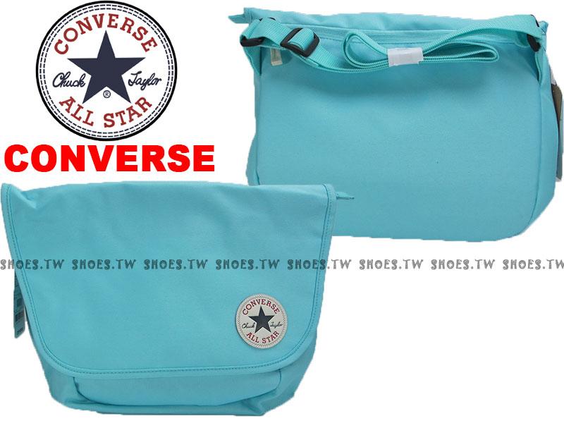 Shoestw【12039C444】CONVERSE ALLSTAR 郵差包 水藍色 隨行包 側背包