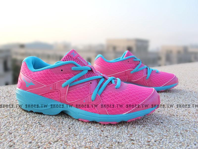 [25.5cm]《驚爆5折》【J1GH152832】MIZUNO 美津濃 美金濃 PRIMA BEAT 慢跑鞋 桃藍色 女款