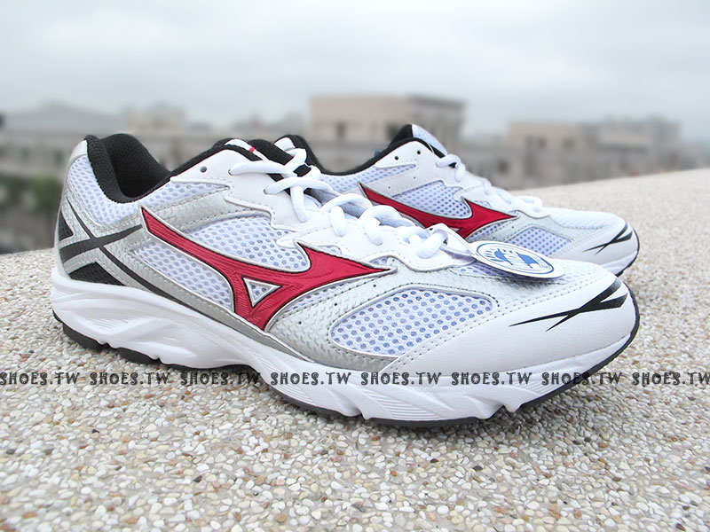 [25.5cm]《驚爆5折》【K1GA140084】MIZUNO 美津濃 美金濃 MAXIMIZER16 慢跑鞋3E寬楦頭 白紅 男款