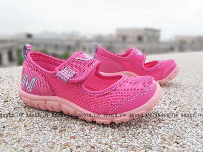 [19cm]《超值6折》Shoestw【KA207PFP】NEW BALANCE 涼鞋 拖鞋 童鞋 中童 粉紫 免綁帶