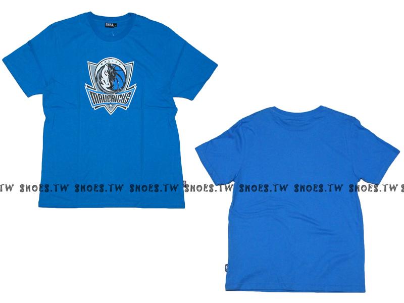 《換季折扣》Shoestw【8330216016】NBA 短袖 T恤 基本款 隊徽LOGO 100%純棉 達拉斯 小牛隊