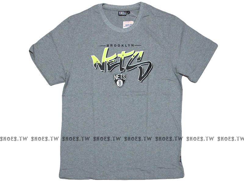 《換季折扣》Shoestw【8530212-003】NBA 2015短袖 T恤 籃網 噴漆漸層 灰色 純棉 超取免運