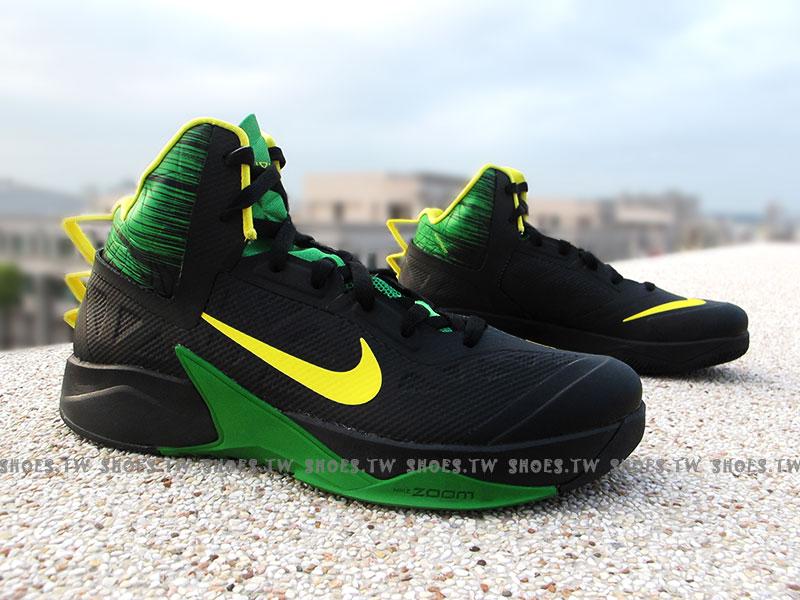 鞋殿【615897006】NIKE ZOOM HYPERFUSE 2013 XDR 黑綠黃 巴西隊配色