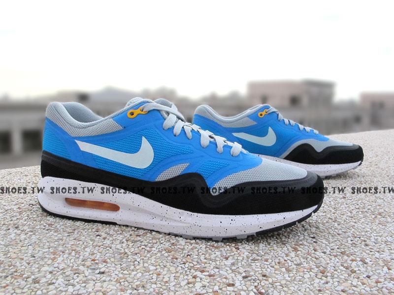 Shoestw【654469001】NIKE AIR MAX LUNAR 1 復古慢跑 氣墊 白藍黑 潑墨 男款