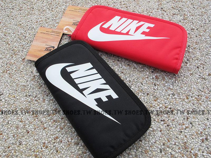 Shoestw【AC3608-】NIKE 長夾 手拿包 卡片夾 黑 紅兩色 護照夾 男女都可
