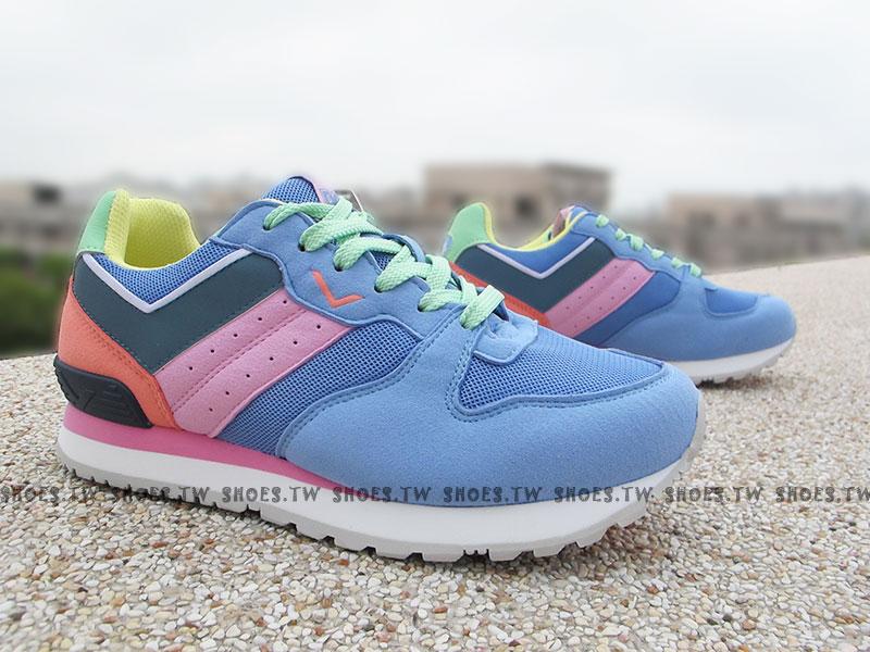 《超值5折》Shoestw【52W1CS61BH】PONY NChaser  復古慢跑鞋 內增高 藍紫女款 歐陽妮妮