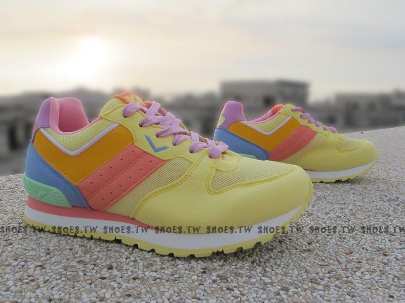 《超值5折》Shoestw【52W1CS61YW】PONY NChaser 復古慢跑鞋 內增高 鵝黃粉 女款 歐陽妮妮