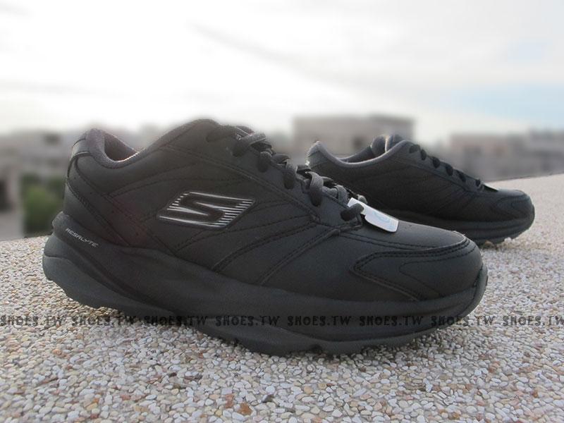 [23cm] Shoestw【13937BBK】SKECHERS 健走鞋 GO FIT 全黑 雙倍緩衝 健身系列