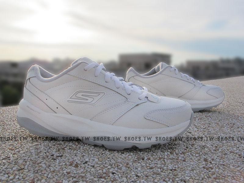 Shoestw【13937WSL】SKECHERS 健走鞋 GO FIT 全白 雙倍緩衝 健身系列 護士鞋