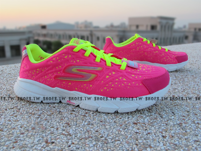 [23cm]《降價69折》Shoestw【13923HPLM】SKECHERS 簡嫚書 慢跑鞋 健走鞋 GO FIT 2 粉螢光黃 女款